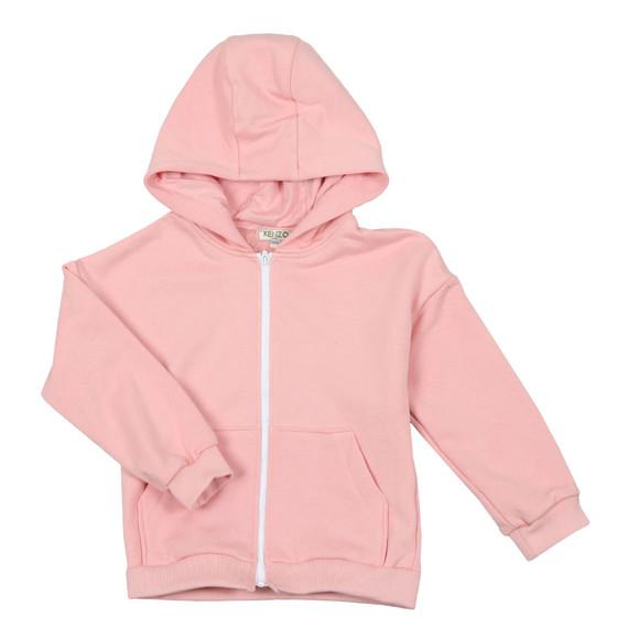 Kenzo Kids Girls Pink Girls Full Zip Hoody