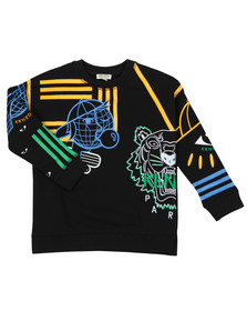 Kenzo Kids Boys Black Cosmic Emery  Sweatshirt