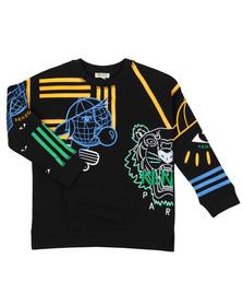 Kenzo Kids Boys Black Cosmic Emery  Sweatshirt