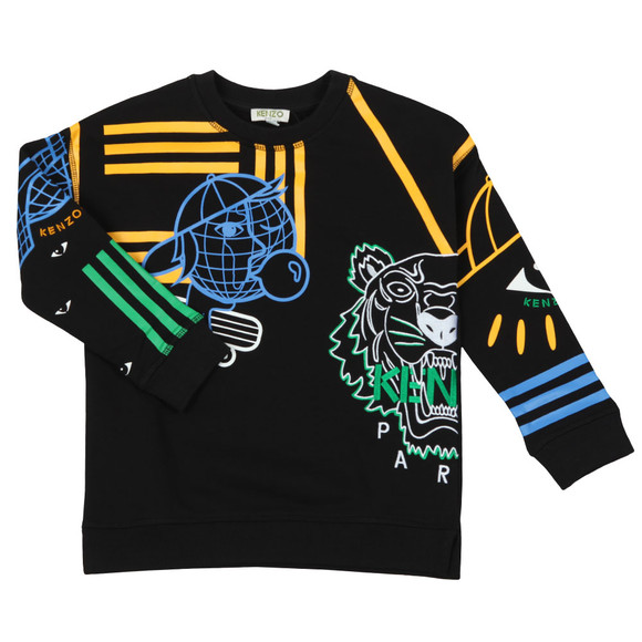Kenzo Kids Boys Black Cosmic Emery  Sweatshirt main image