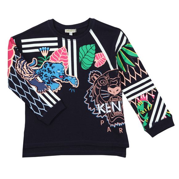 Kenzo Kids Girls Blue Fantastic Esther Sweatshirt
