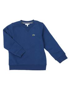 Lacoste Sport Boys Blue Small Logo Sweatshirt