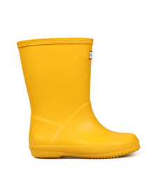 Hunter Unisex Yellow Kids First Wellington