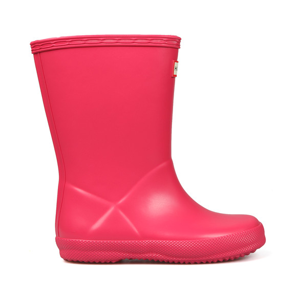 Hunter Unisex Pink Kids First Wellington