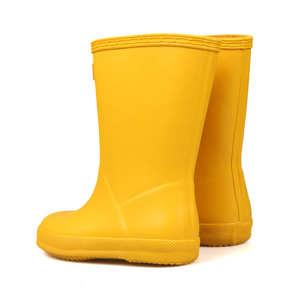 Hunter Unisex Yellow Kids First Wellington main image