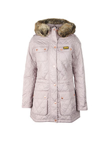 Barbour International Womens Off-white Enduro Quilt Jacket