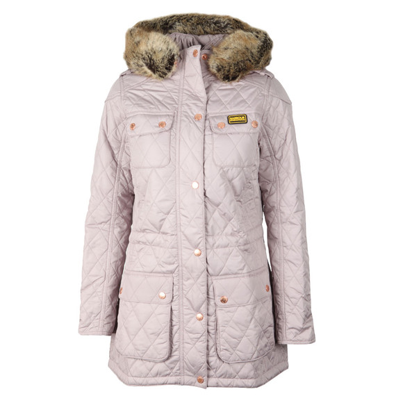 Barbour International Womens Off-white Enduro Quilt Jacket  main image
