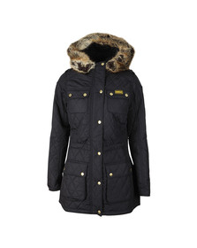 Barbour International Womens Blue Enduro Quilt Jacket