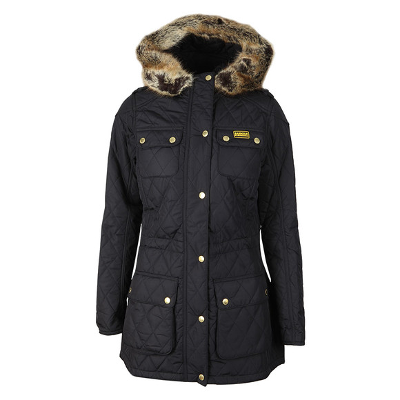 Barbour International Womens Blue Enduro Quilt Jacket  main image
