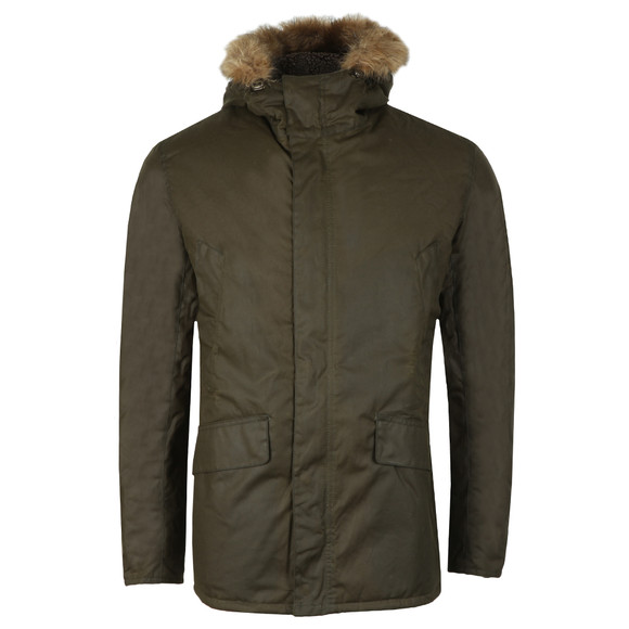 Barbour Int. Steve McQueen Mens Green Int Sub Wax Jacket main image