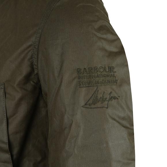 Barbour Int. Steve McQueen Mens Green Int Sub Wax Jacket main image