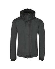 Superdry Mens Black Arctic Hood Popzip Windcheater