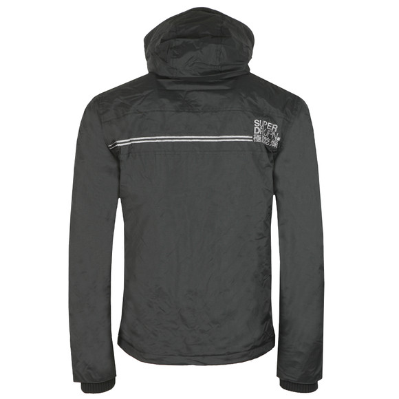 Superdry Mens Black Arctic Hood Popzip Windcheater main image