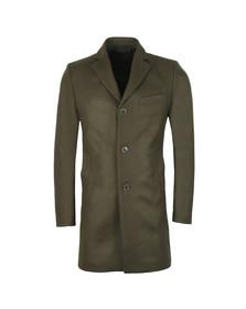 J.Lindeberg Mens Green Wolger Compact Melton Coat