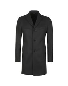 J.Lindeberg Mens Black Wolger Compact Melton Coat