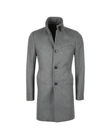 J.Lindeberg Mens Grey Holger Compact Melton Coat