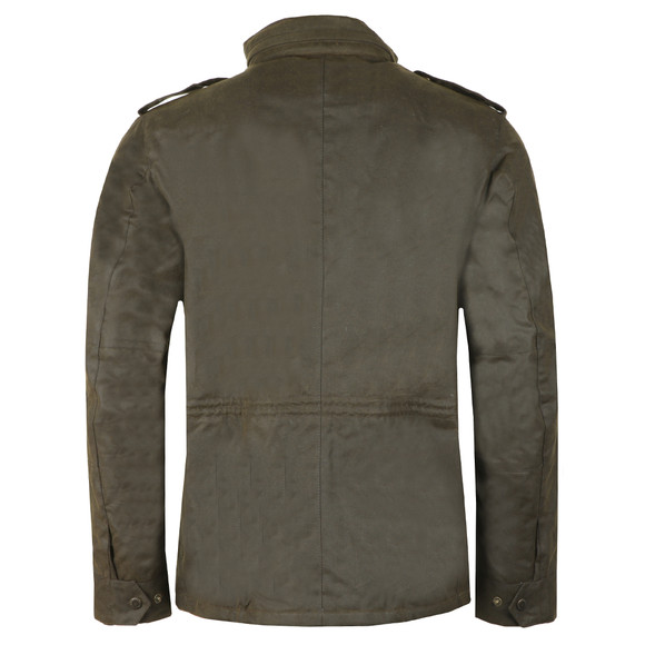 Barbour Int. Steve McQueen Mens Green Tuscon Wax Jacket main image