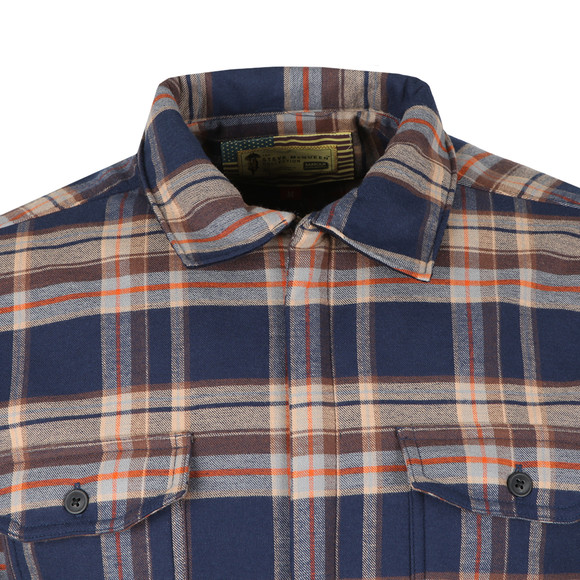 Barbour Int. Steve McQueen Mens Blue Washer Overshirt main image
