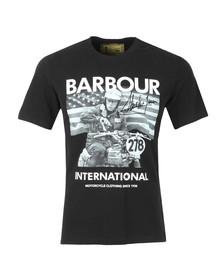 Barbour Int. Steve McQueen Mens Black Intl Paddock Tee