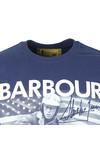 Barbour Int. Steve McQueen Mens Blue Intl Paddock T-Shirt