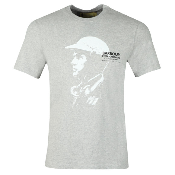 Barbour Int. Steve McQueen Mens Grey Intl Carburettor Tee main image