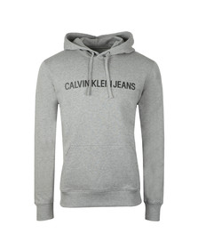 Calvin Klein Jeans Mens Grey Institutional Hoody