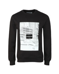 Calvin Klein Jeans Mens Black Pixelated Graphic Sweat