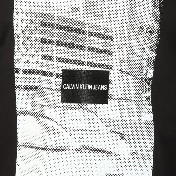 Calvin Klein Jeans Mens Black Pixelated Graphic Sweat main image