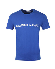 Calvin Klein Jeans Mens Blue S/S Institutional T-Shirt