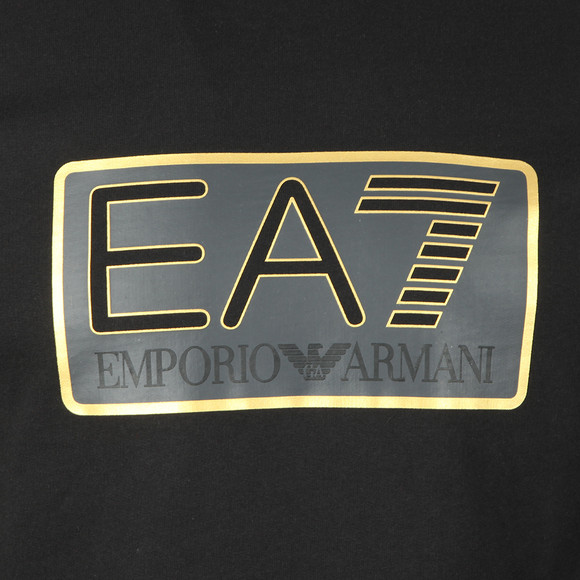 EA7 Emporio Armani Mens Black Large Box Logo Sweatshirt main image