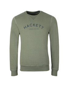 Hackett Mens Green MR Crew Sweat