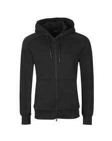 J.Lindeberg Mens Black Throw Ring Hood Zip Loop Sweat