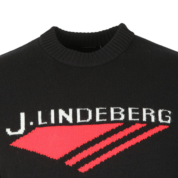 J.Lindeberg Mens Black Virgil Chunky Wool Jumper main image