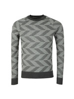 Vein Cotton Nylon Chevron Jumper