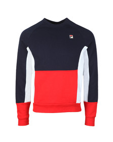 Fila Mens Blue Foster Colour Block Sweatshirt