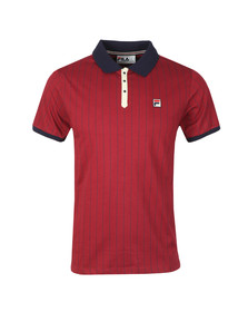 Fila Mens Red BB1 Striped Polo