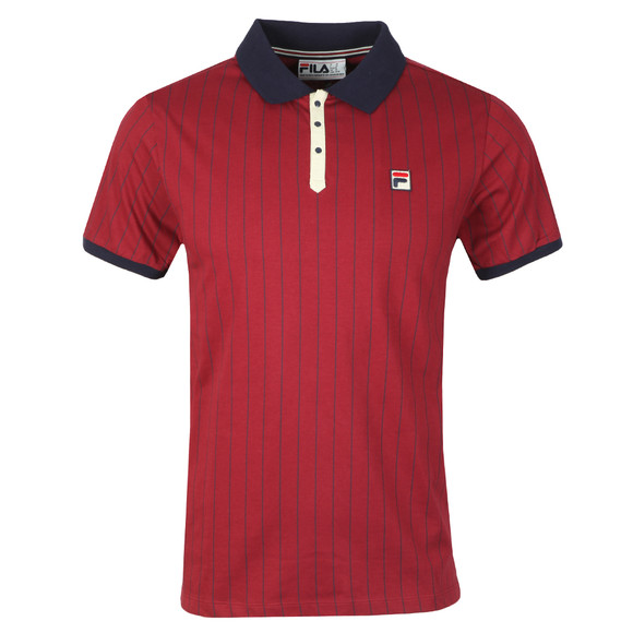 Fila Mens Red BB1 Striped Polo main image