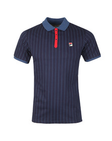 Fila Mens Blue BB1 Striped Polo