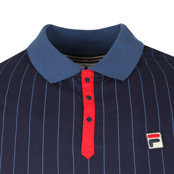 Fila Mens Blue BB1 Striped Polo main image