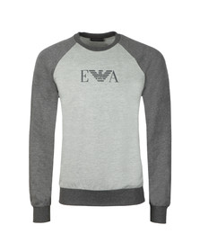 Emporio Armani Mens Grey Chest Logo Sweat