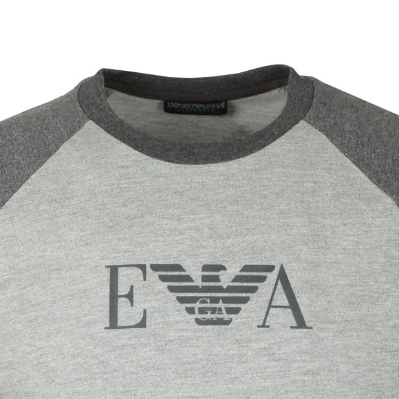 Emporio Armani Mens Grey Chest Logo Sweat main image