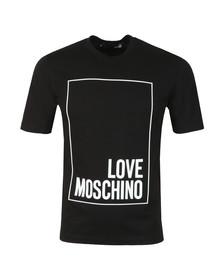 Love Moschino Mens Black Box Logo T Shirt