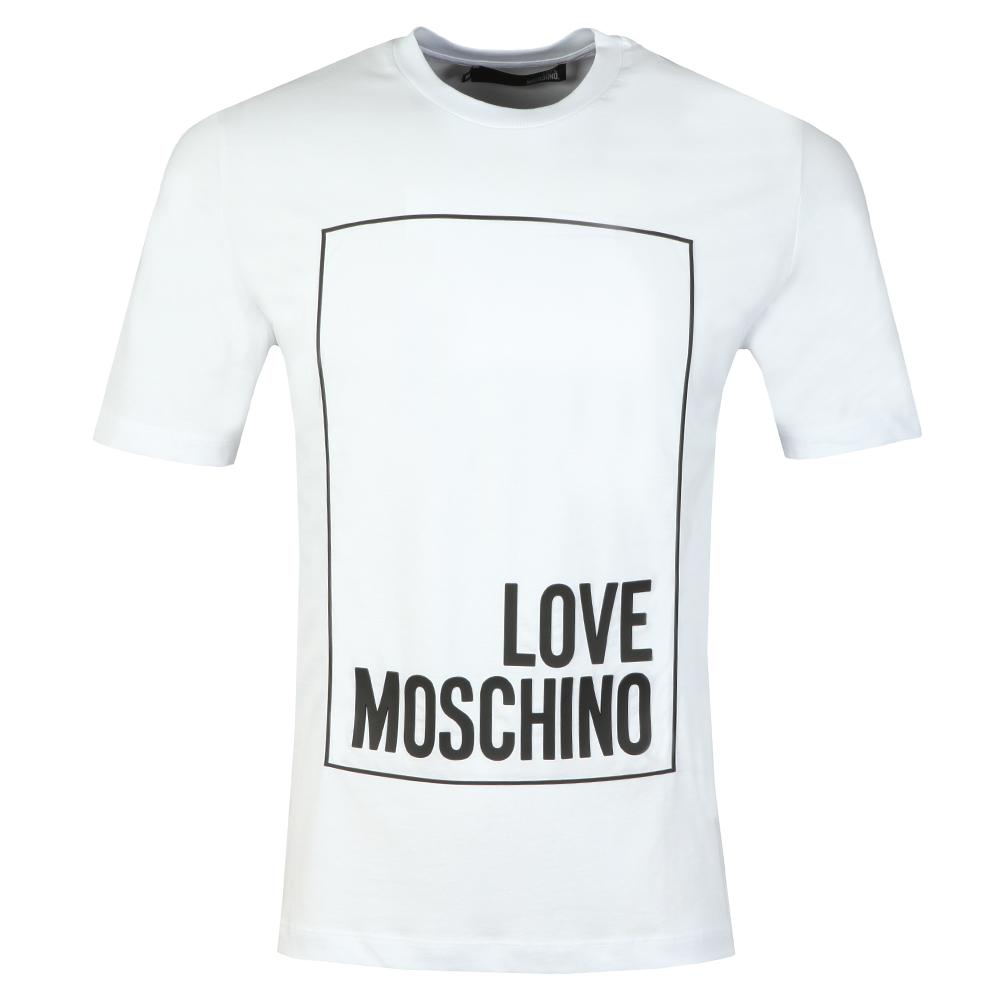 672ab9eb0 Love Moschino Box Logo T Shirt | Oxygen Clothing