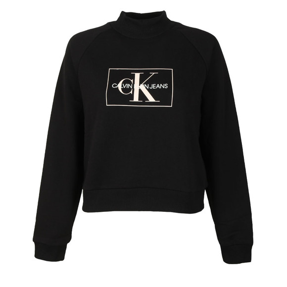 Calvin Klein Jeans Womens Black Outline Monogram Relaxed Sweat main image