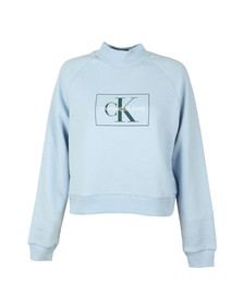 Calvin Klein Jeans Womens Blue Outline Monogram Relaxed Sweat