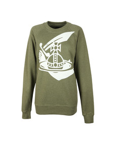 Vivienne Westwood Anglomania Womens Green Classic Sweatshirt