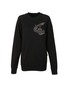 Vivienne Westwood Anglomania Womens Black Classic Sweatshirt With Patch