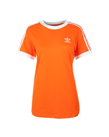 Adidas Originals Womens Orange 3 Stripes Tee