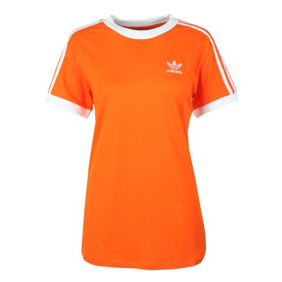 Adidas Originals Womens Orange 3 Stripes Tee main image