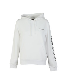 Calvin Klein Jeans Womens White Institutional Regular Hoody